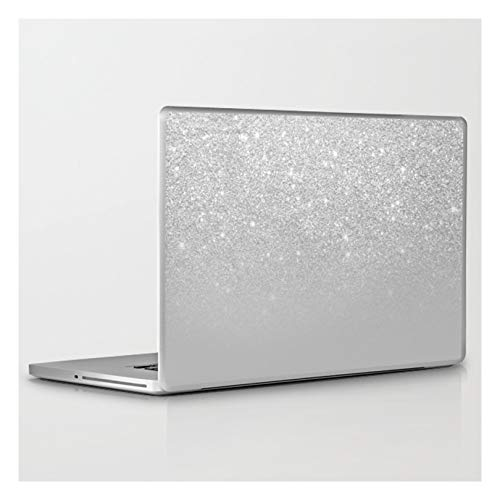 Laptop & Tablet Skin - 13' MacBook/Pro/Air - Trendy Modern Silver Ombre Grey Color Block by Gir