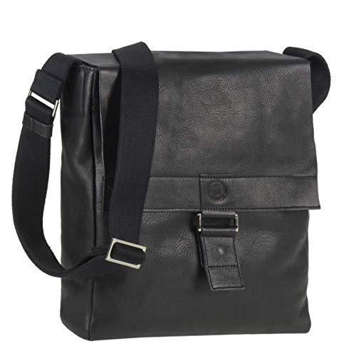 Sonnenleder Tasche Granada G Umhängetasche Leder schwarz Messenger Herren Damen