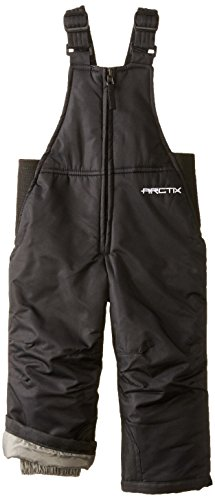 Arctix Infant-Toddler Chest High Snow Bib Overalls, Black, 4T