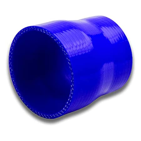 Blue Silicone HPS HTSRNBLUE-253 3.75-4 ID 3 Length High Temp 4-Ply Reinforced Silicone Reducer Coupler Hose