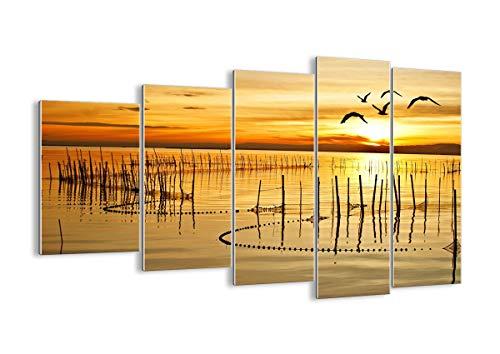 Quadro su Vetro - Cinque 5 Tele - Larghezza: 150cm, Altezza: 100cm - Numero dell'immagine 3616 - Pronto da Appendere - Elementi Multipli - Arte Digitale - Moderno - Quadro in Vetro - GEG150x100-3616