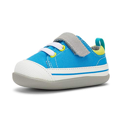 See Kai Run, Stevie II First Walker Sneakers for Infants, Electric Blue, 5.5 M Infant