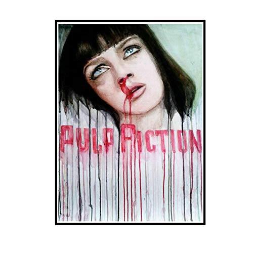ADNHWAN Pulp Fiction película clásica película artística impresión de película póster decoración de la Pared del hogar regalo-50X70 cm sin Marco 1 Uds