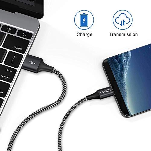 USB Typ C Kabel, RAVIAD [4Pack 0.5M 1M 2M 3M] Nylon Typ C Ladekabel und Datenkabel USB C Schnellladekabel für Samsung Galaxy S10/S9/S8+, Huawei P30/P20, Google Pixel, Sony Xperia XZ, OnePlus 6T