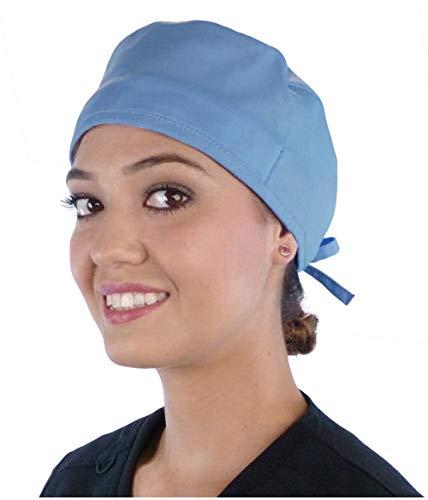Mens and Womens Medical Scrub Cap Surgical Cap - Sky Blue