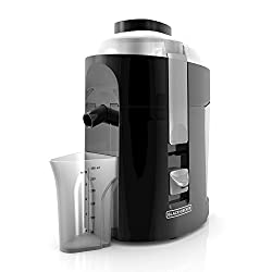 BLACK+DECKER 400-Watt Fruit and Vegetable Juice Extractor, Black, JE2200B