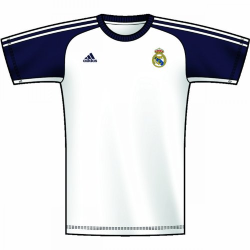 Adidas X50387 T-shirt pour homme Real Madrid Core Blanc/noble ink Taille L