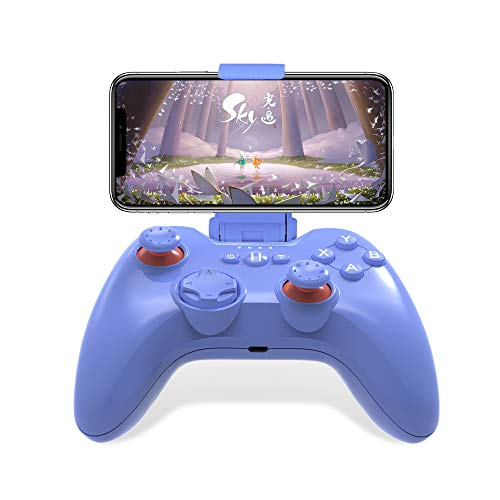 Mfi Game Controller für iPhone PXN Speedy(6603) iOS Gaming-Controller für Call of Duty Gamepad mit Handy-Clip für Ipad, iPhone (Blau)