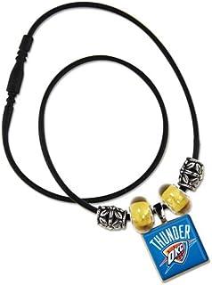 WinCraft NBA Oklahoma City Thunder Lifetile Necklace with Beads