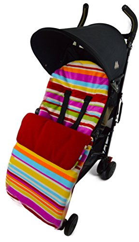 Polaire Chancelière/Cosy orteils Compatible avec Bugaboo Bee Cameleon Donkey Buffalo Candy Rouge