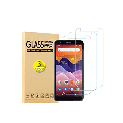 Tznzxm Screen Protector for ZTE Avid 579 Tempered Glass, Tempered Glass for ZTE Blade A3 2020 Screen Protector, Case Friendly 9H Hardness HD Anti-Scratch, Bubble Free Film for ZTE Avid 579 [3-Pack]