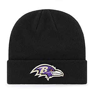 OTS NFL Baltimore Ravens Toddler Raised Cuff Knit Cap, Team Color, Toddler