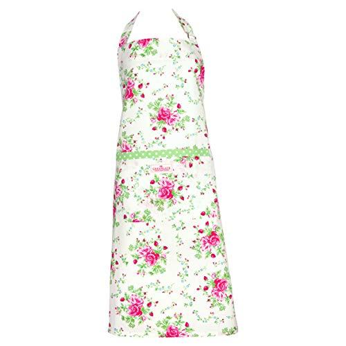 GreenGate - Schürze - Küchenschürze - Mary - Rosen - Baumwolle - White - 90 x 70 cm