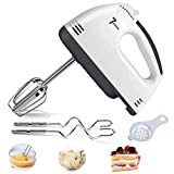 Electric Hand Mixer, 7 Speeds Turbo Handheld Mixer Egg Whisk with Egg Separator and 4 Stainless Steel Accessories for Home Easy Whipping, Mixing Cookies, Brownies, Cakes, Dough Batters
