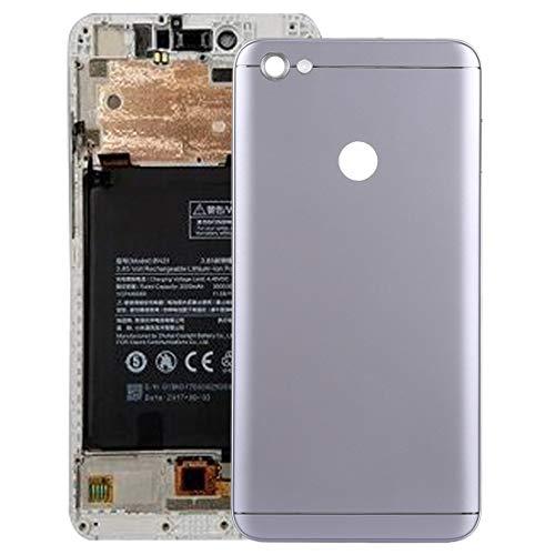 Repuesto Xiaomi Cubierta Posterior con Teclas Laterales para Xiaomi Redmi Note 5A Prime Repuesto Xiaomi (Color : Grey)