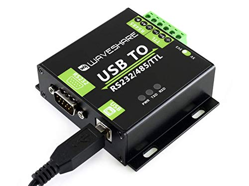 Waveshare USB to RS232/RS485/TTL Interface Converter Industrial Isolated Converter with Original FT232RL Inside, 300-921600bps Baudrate Onboard Power Isolation, Adi Magnetical Isolation