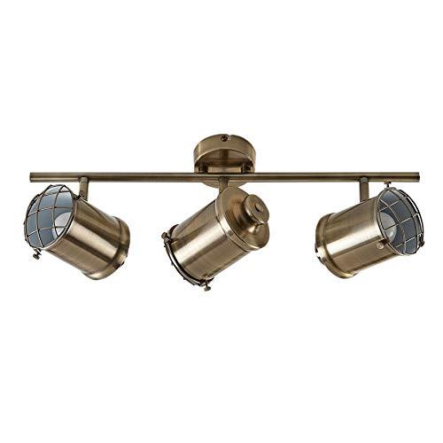 Lindby LED Deckenlampe 'Ebbi' dimmbar (Modern) in Bronze aus Metall u.a. für Wohnzimmer & Esszimmer (3 flammig, E14, A+, inkl. Leuchtmittel) - Deckenleuchte, Wandleuchte, Strahler, Spot, Lampe