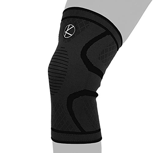 Compression Knee Sleeve for Runners- Best Knee Support for Arthritis Pain, Meniscus Tear, ACL, Pain, Injury, Knee Sleeve for Sleeping. Non-Slip Plus Size Knee Brace for Men, Women (XS Black)
