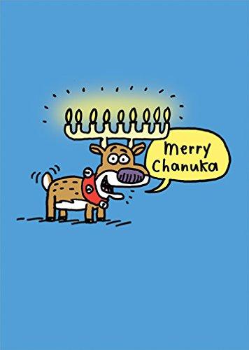 Merry Chanuka Interfaith - Designer Greetings Box of 18 Mixed Faith Christmas, Hanukkah, Chanuka Holiday Cards