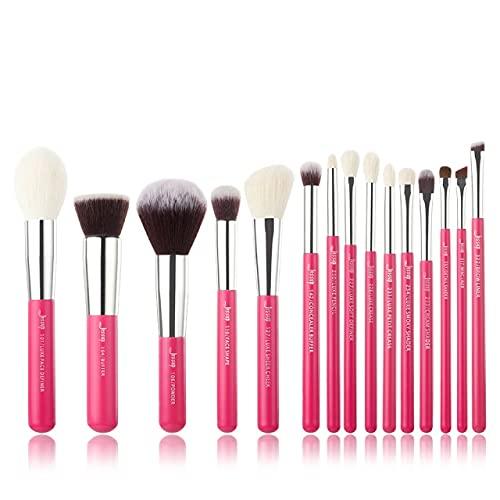 Rose Rouge/Silver Makeup Brush Set Beauty Foundation Powder Eyeshadow Makeup Brush 6-25 Natural Synthetic Hair - T200(15PCS)