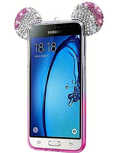ObaStyle - Cover per Samsung Galaxy A3.2016, con brillantini e strass brillanti, colore: Rosa