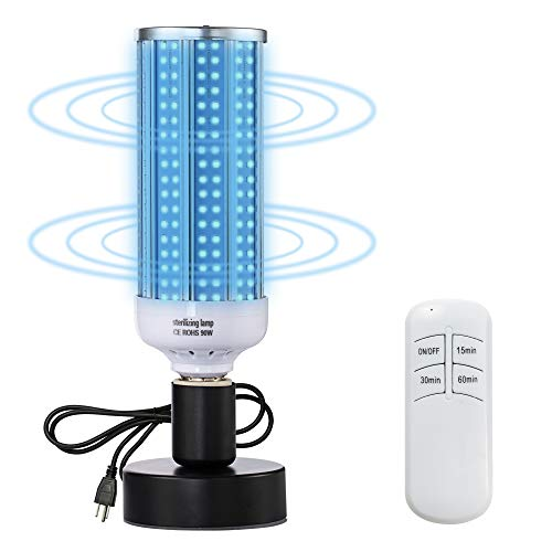 UV Light Sanitizer, UVC Disinfection Light Bulb 100W Germicidal Lamp E26/E27 Base for Home Room Hotel Travel Bathroom Office Restaurant Toilet Supermarket Bedroom