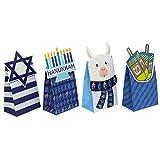 Iconikal Hanukkah Die-Cut Flip Over Treat & Gift Bags, 20-Count