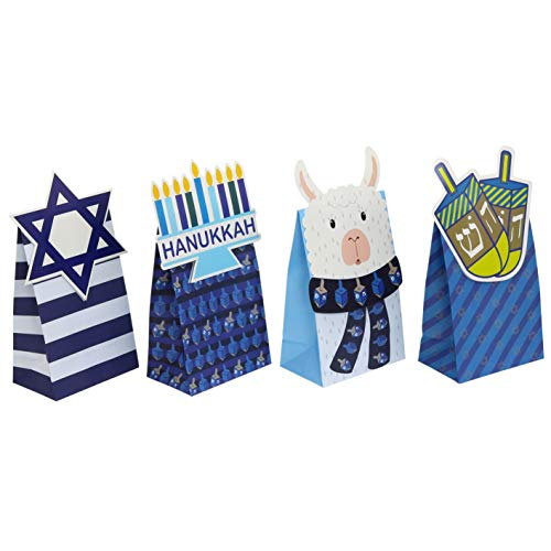Iconikal Hanukkah Die-Cut Flip Over Treat & Gift Bags, 20-Count