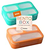 MINI Lunch-Box Snack Containers for Kids | SMALL Bento-Box Portion Container | Toddler Pre-School |...