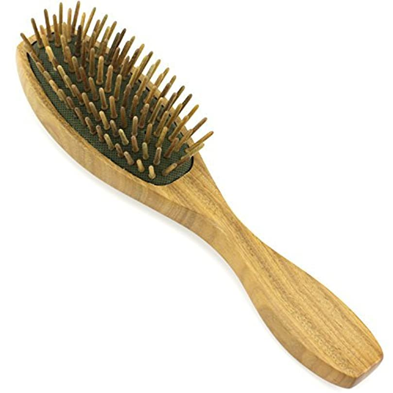 オートマトン飼料序文Evolatree - Evolatree - Wood Bristle Brush, Wood Comb Hair Comb, Wood, 8.25
