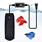 Aquarium Heater with External Temperature Controller and LED Temperature Display for Marine and Fresh Water, Submersible Fish Tank Heater for 30-180 Gallon (300 Watt for 26-66 Gallon Tank)