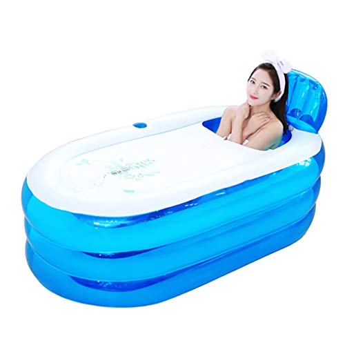 Guotail Baño Inflable Adulto hogar de baño Grueso Barril de Ducha Mayor Lavabo Plegable bañera para niños Puede Sentarse,Small