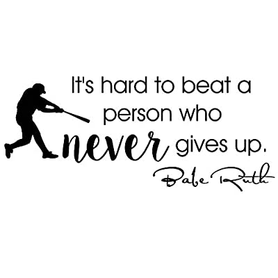 babe ruth quote wall decal