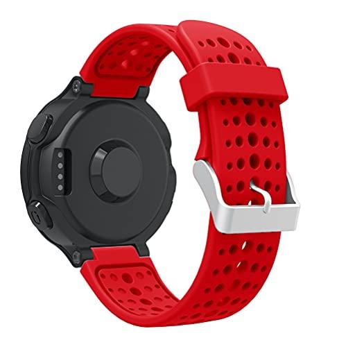 Gransho Bracelete compatível com Garmin Forerunner 220/230/235 / Forerunner 630 / Forerunner 735XT Bracelete Para Relógio, Bracelete Ajustável de Reposição Bracelete desportiva de Silicone (Pattern 3)
