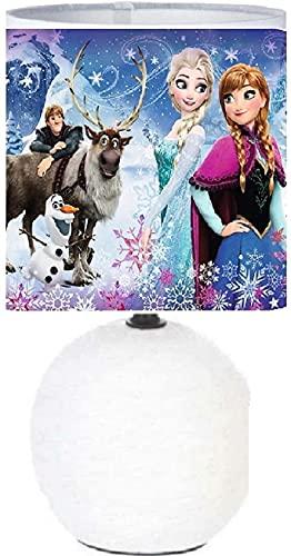 Lampe de chevet REINE DES NEIGES 2 Création artisanale photo panoramique.