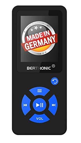 BERTRONIC Made in Germany Royal BC07 MP3-Player mit Bluetooth Adapter - Bis 100 Stunden Wiedergabe | Radio | Portabler Player mit Lautsprecher | Audio-Player für Sport mit 64GB Micro-SD Karte