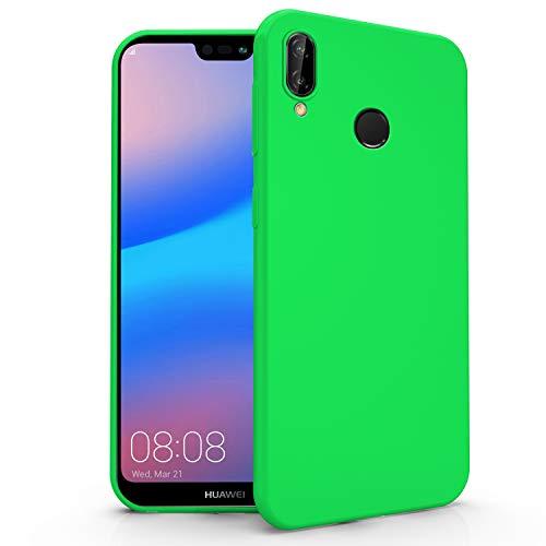 N NEWTOP Cover Compatibile per Huawei P20 Lite, Custodia TPU Soft Gel Silicone Ultra Slim Sottile Flessibile Case Posteriore Protettiva (Verde)