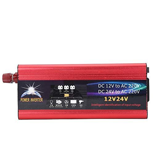 Fydun Power Inverter Universal 12V 24V Car Solar Power Inverter 4000W Inverter Converter 12V a 220V USB Cargador de coche