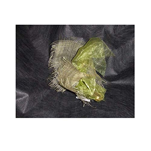 rdb - Pinzas mathilde verde espuma de CRIN y sisal, tocado de boda, ceremonia, bautizo