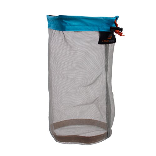 Ultra Light Blanket Cloth Jacket Mesh Storage Bag Stuff Sack for Tavel Camping Flat Size 25 x 18cm