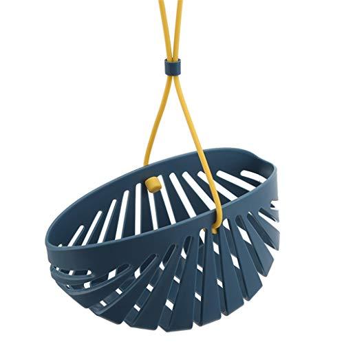 MKYSB Grifo de cocina Cinturón en forma de concha Cordón Fregadero Desagüe Bolsa colgante Olla de lavado Cepillo Bola de acero Esponja Drenaje Cesta de almacenamiento (Color : Blue)