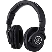 Audio-Technica ATH-M40x Professional Studio Monitor Headphone, Black, with Cutting Edge Engineering, 90 Degree Swiveling Earcups, Pro-grade Earpads/Headband, Detachable Cables Included