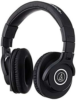 Audio-Technica ATH-M40x Professional Studio Monitor Headphone Black with Cutting Edge Engineering 90 Degree Swiveling Earcups Pro-grade Earpads/Headband Detachable Cables Included