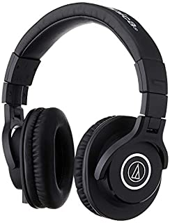 Audio-Technica ATH-M40x Professional Studio Monitor Headphone, Black, with Cutting Edge Engineering, 90 Degree Swiveling Earcups, Pro-grade Earpads/Headband, Detachable Cables Included (B00HVLUR54) | Amazon price tracker / tracking, Amazon price history charts, Amazon price watches, Amazon price drop alerts