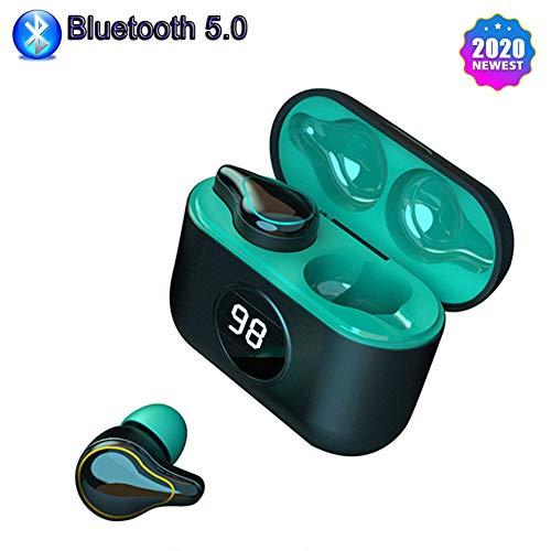 KAMELUN Bluetooth 5.0 Auriculares estéreo Auriculares con cancelación de Ruido Es Cierto inalámbrica Auriculares de los Auriculares a Prueba de Agua en Auriculares,A