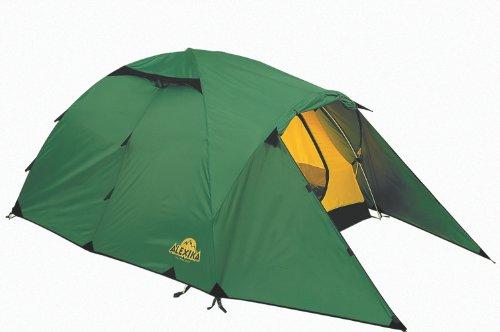 ALEXIKA Zelt Nakra 3, grün (außen)/gelb (innen), 190x415x115 (BxLxH), 9124.3101