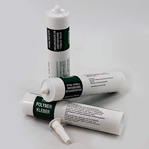 6 x zelfklevende omslagmat borgingsmat voor de vijverfolie 290 ml wit