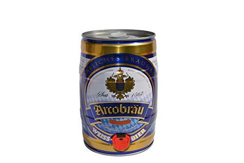Arcobräu Moos Weißbier Hell Bier 5 Liter Dose Partyfass