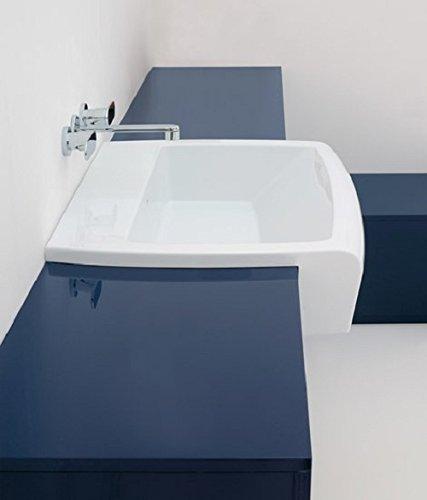 Flaminia UNA90L Waschbecken 90 Halbeinbau-Waschbecken aus Keramik