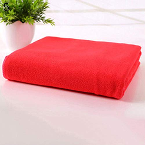 LASISZ Microfibre Travel Gym Camping Sport Fast Drying Absorbent Cleaning Towel 35x75cm,Red